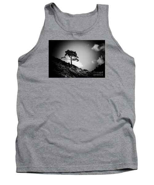 Pine At Sky Background Artmif.lv Tank Top