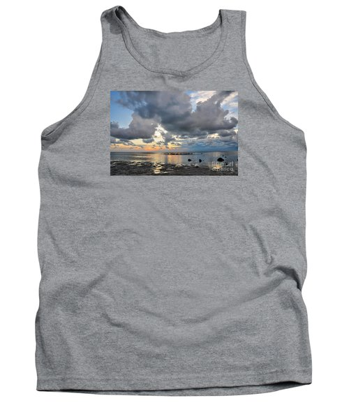 Pine Island Sunset Tank Top by Debbie Green
