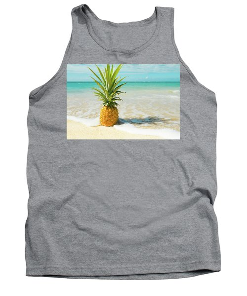 Tank Top featuring the photograph Pineapple Beach by Sharon Mau