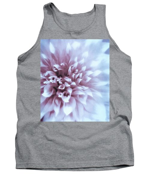 Pink And Blue Dahlia Tank Top