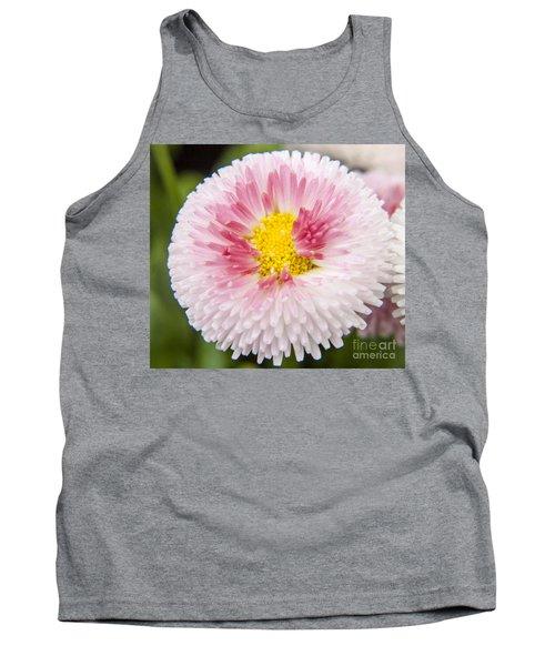 Pink Button Flower Tank Top