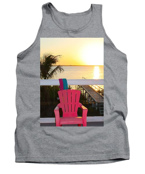 Pink Chair In The Keys Tank Top