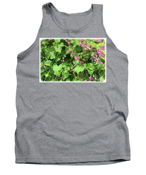 Tank Top featuring the photograph Pink Flowering Vine1 by Megan Dirsa-DuBois