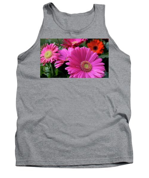 Pink Flowers Tank Top by Brian Jones
