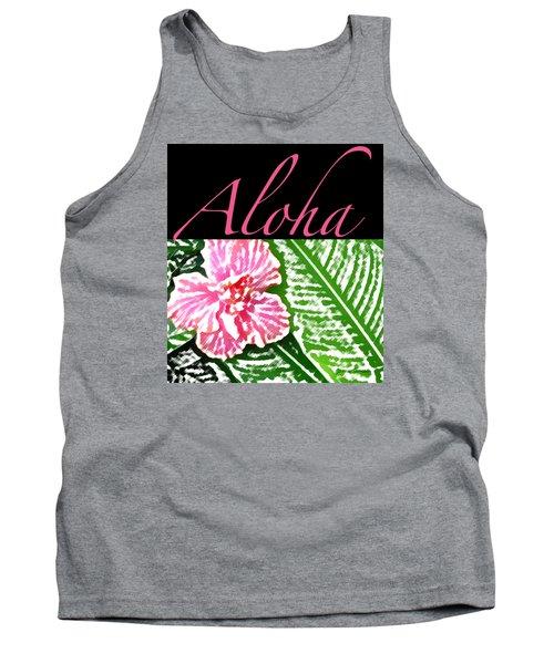 Pink Hibiscus Aloha Tank Top