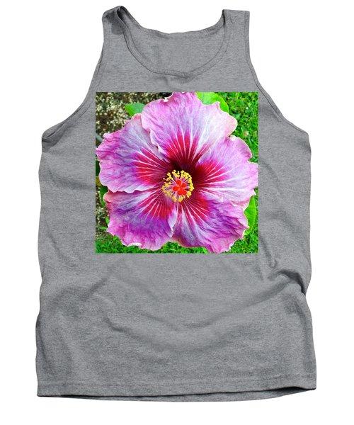 Pink Hibiscus Joyous Cosmology Tank Top