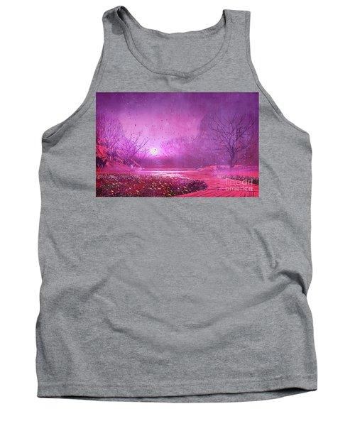 Pink Landscape Tank Top