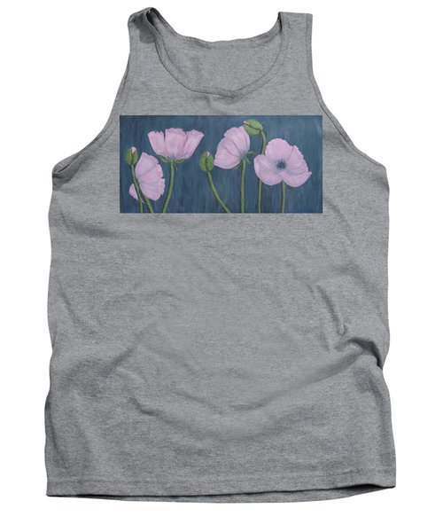 Tank Top featuring the painting Pink Poppies by Kathleen McDermott