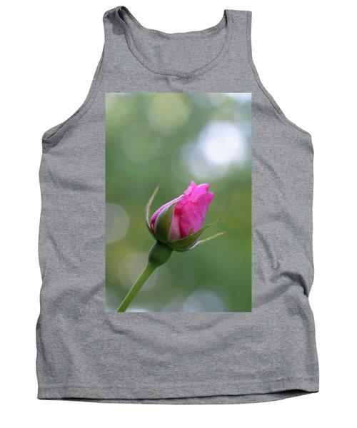Pink Rose Bud Tank Top