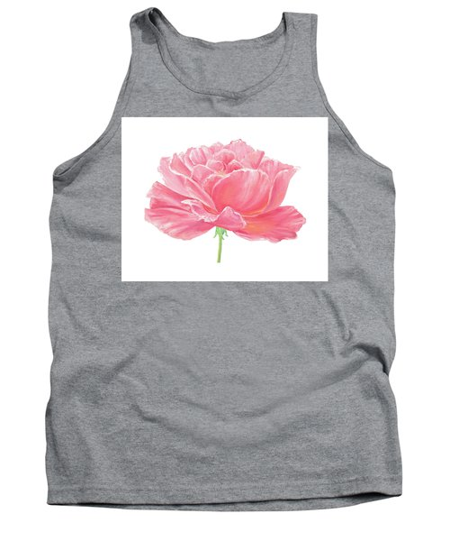 Tank Top featuring the painting Pink Rose by Elizabeth Lock