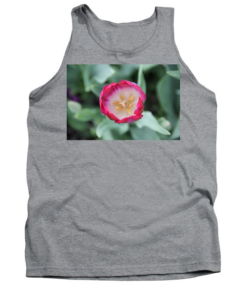 Pink Tulip Top View Tank Top