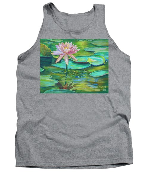 Pink Water Lily Tank Top