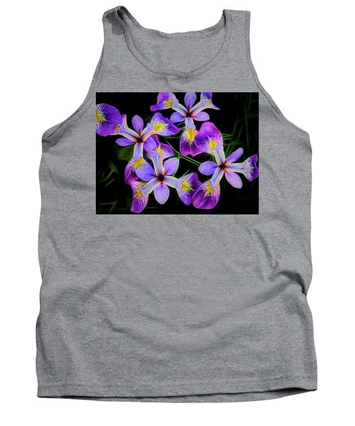 Pinwheel Purple Iris Glow Tank Top by Penny Lisowski