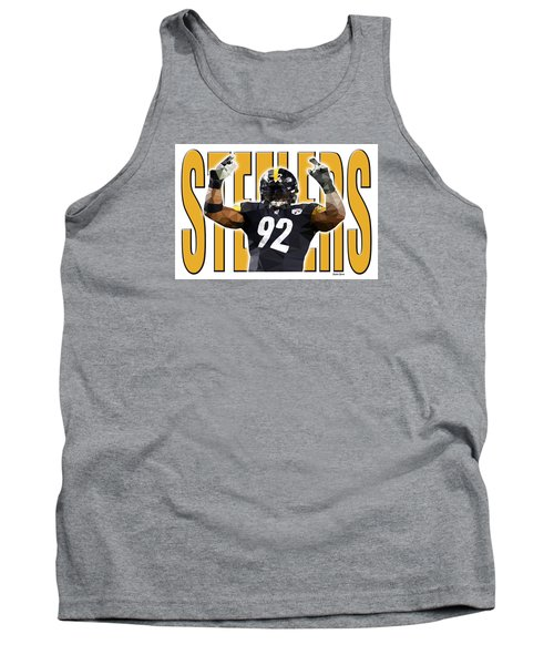 Tank Top featuring the digital art Pittsburgh Steelers by Stephen Younts