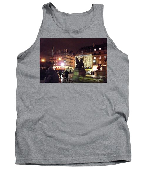 Tank Top featuring the photograph Place Saint-michel by Felipe Adan Lerma
