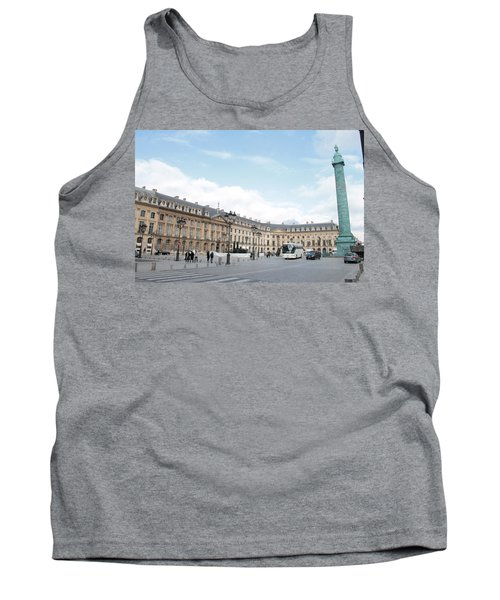 Tank Top featuring the photograph Place Vendome by Christopher Kirby