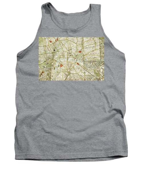 Tank Top featuring the photograph Plan Of Central London by Patricia Hofmeester
