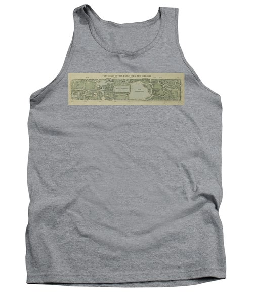 Plan Of Central Park City Of New York 1860 Tank Top