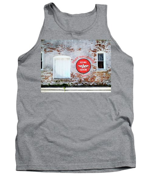 Tank Top featuring the digital art Play Ball With Flying A by Sandy MacGowan