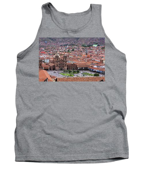 Tank Top featuring the photograph Plaza De Armas, Cusco, Peru by Aidan Moran