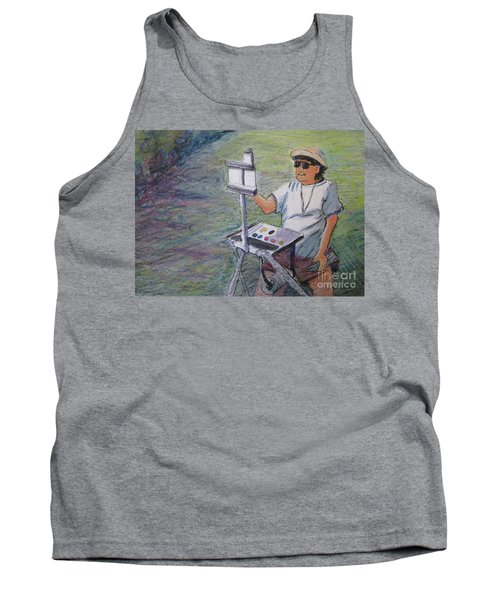 Tank Top featuring the painting Plein-air Painter Bj by Gretchen Allen