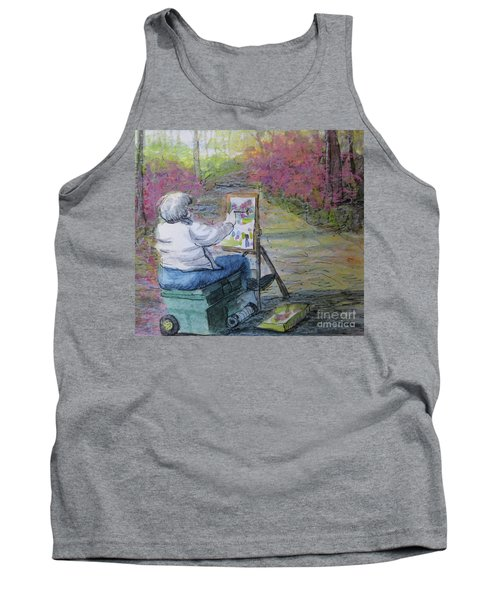 Plein-air Painter Lady Tank Top