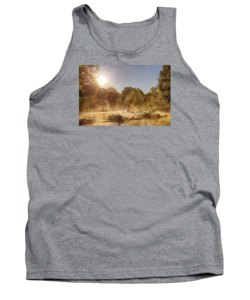 Plying Steamy Waters Tank Top by Robert Charity