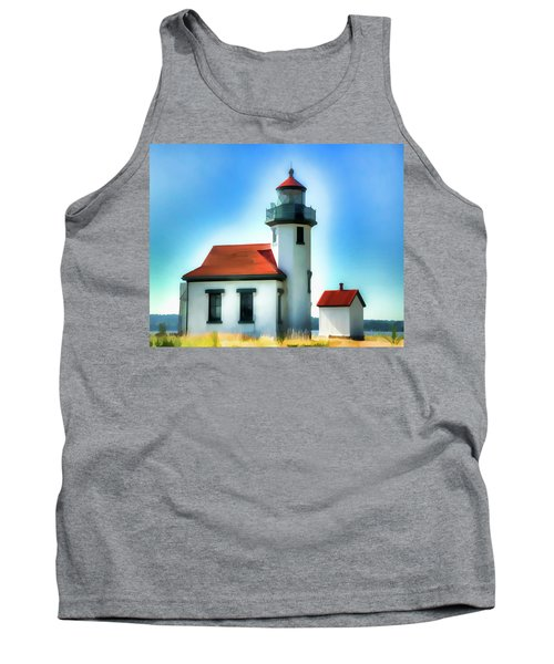 Point Robinson Lighthouse Tank Top by Greg Sigrist