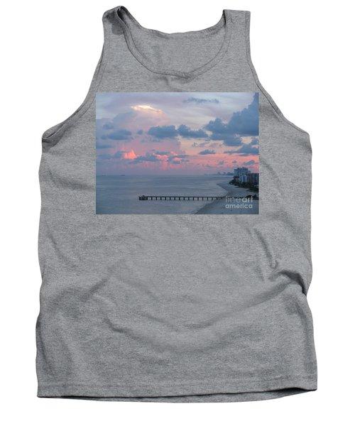 Pompano Pier At Sunset Tank Top