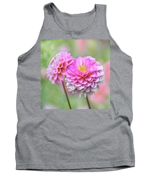 Tank Top featuring the photograph Pompon Dahlias by John Poon