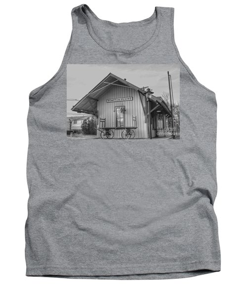 Pompton Plains Railroad Station And Baggage Cart Tank Top