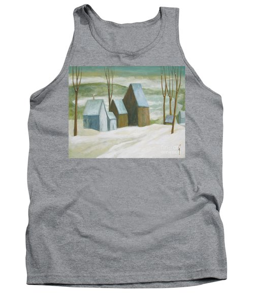 Pond Farm In Winter Tank Top