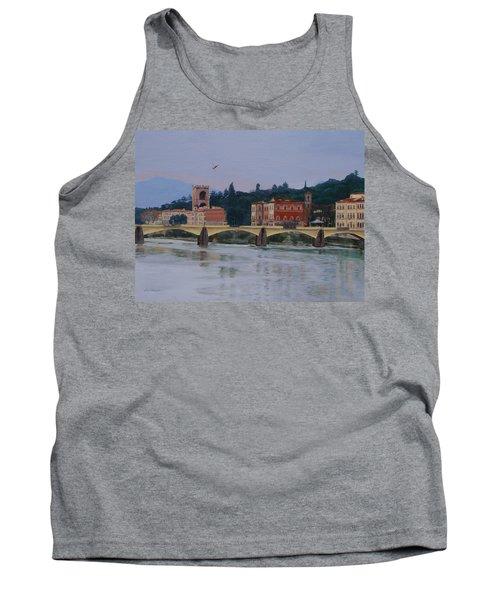 Pont Vecchio Landscape Tank Top by Lynne Reichhart