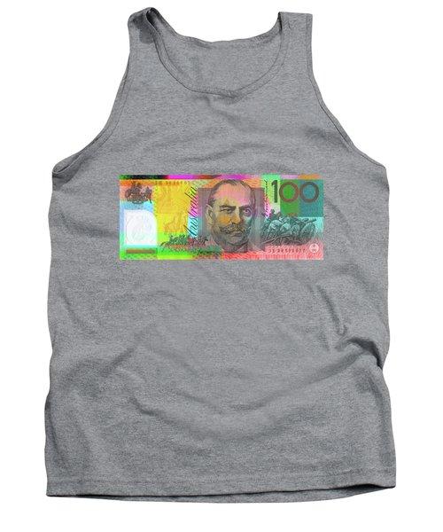 Pop Art Colorized One Hundred Australian Dollar Bill Tank Top