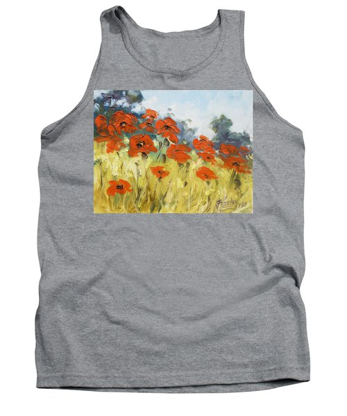 Poppies 3 Tank Top