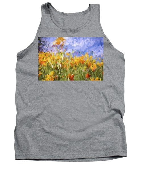 Poppy Field Tank Top by Bonnie Bruno