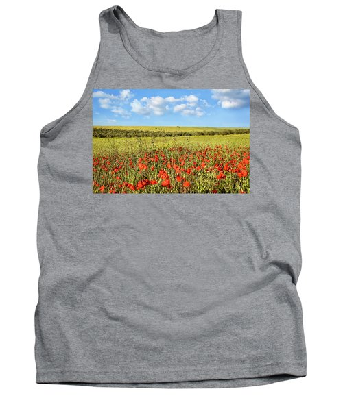 Tank Top featuring the photograph Poppy Fields by Marion McCristall