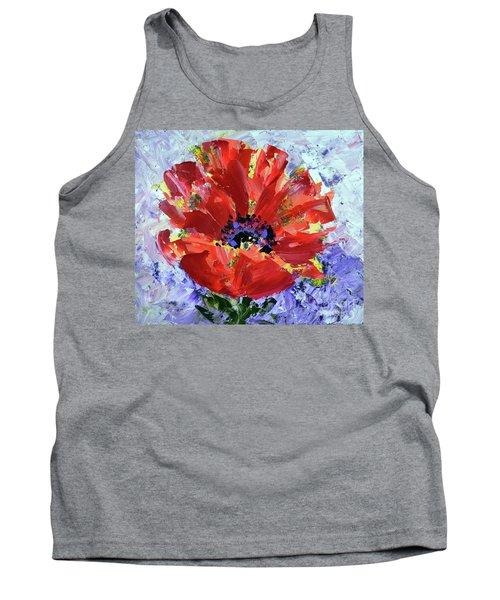 Poppy In Fields Of Lavender Tank Top