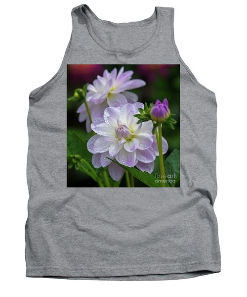 Porcelain Dahlia With Dewdrops Tank Top