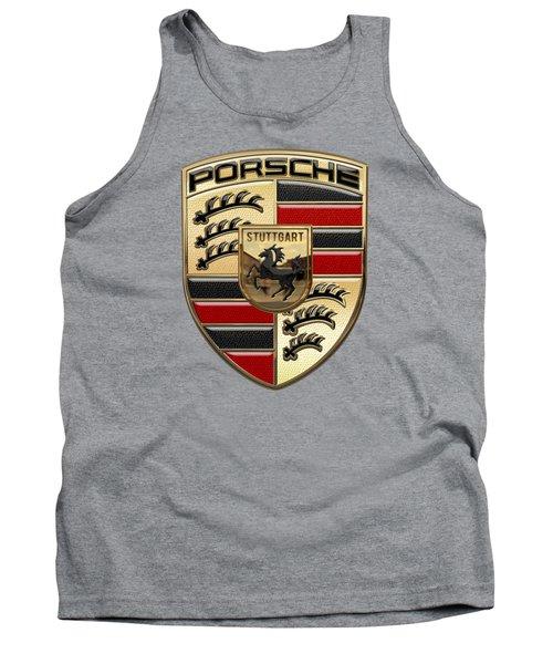Porsche - 3d Badge On Yellow Tank Top