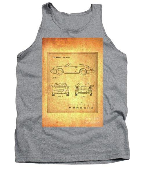 Porsche Blueprint Tank Top