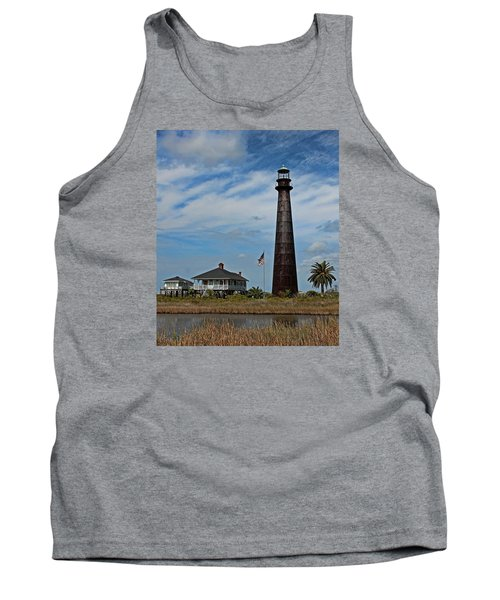 Port Bolivar Lighthouse Tank Top
