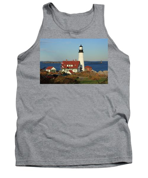 Portland Head Lighthouse 2 Tank Top by Lou Ford