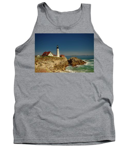 Portland Head Lighthouse 2 Tank Top by Sherman Perry
