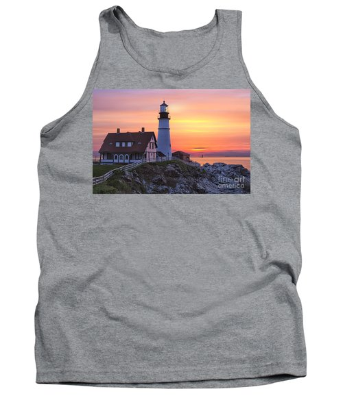 Portland Head Lighthouse Sunrise Tank Top