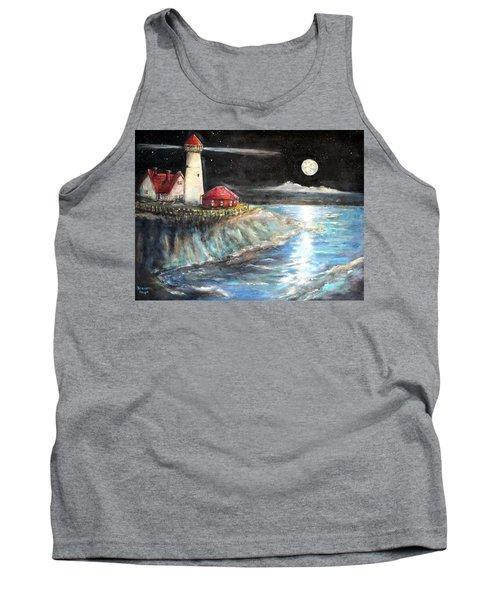 Portland Maine Twilight Tank Top by Bernadette Krupa