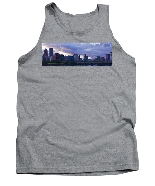 Tank Top featuring the photograph Portland Oregon Panorama by Jonathan Davison