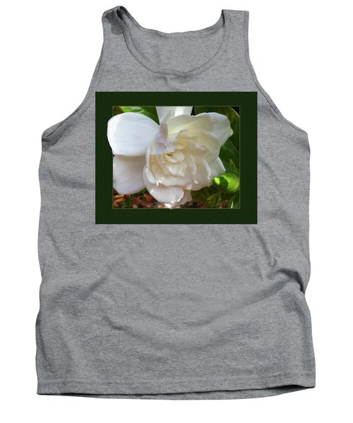 Tank Top featuring the photograph Portrait Of A Gardenia by Ginny Schmidt