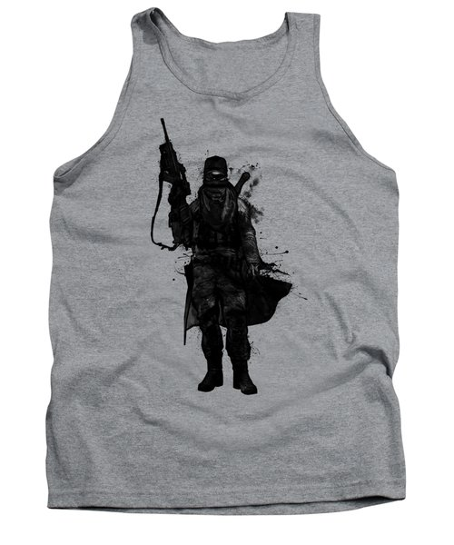 Tank Top featuring the digital art Post Apocalyptic Warrior by Nicklas Gustafsson