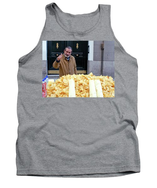Potato Chip Man Tank Top